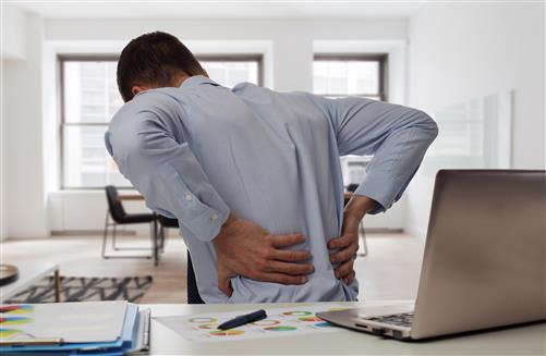 Office Worker with Back Pain